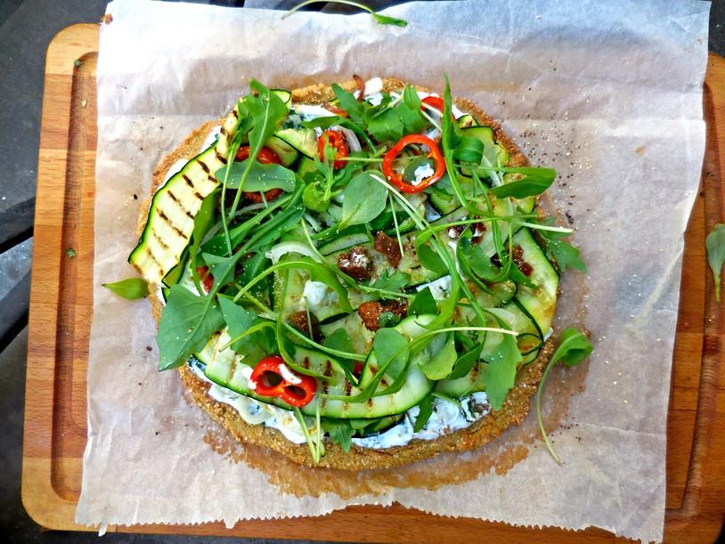 Pizza Vegan sans gluten [Quinoa power]