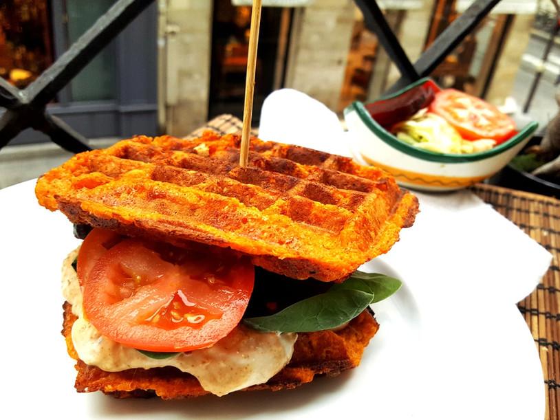 La Gaufre Vegan en Sandwich