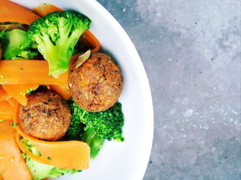 Boulettes de Patate Douce et ses légumes d'hiver
