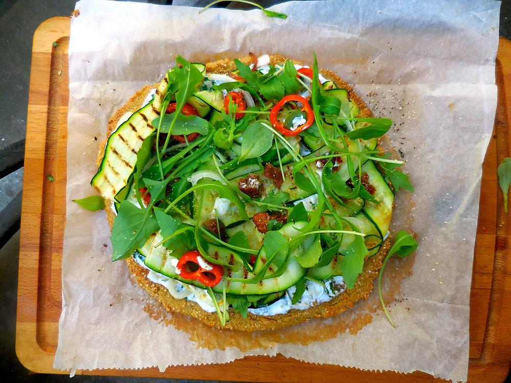 Pizza quinoa sans gluten vegan