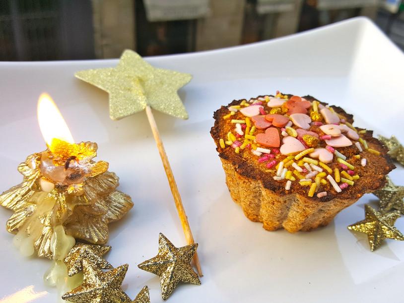 Muffin de Noël: sain et vegan