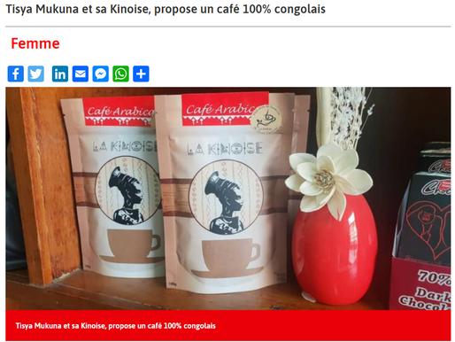 Actualité.CD interview Tisya Mukuna sur son café La Kinoise