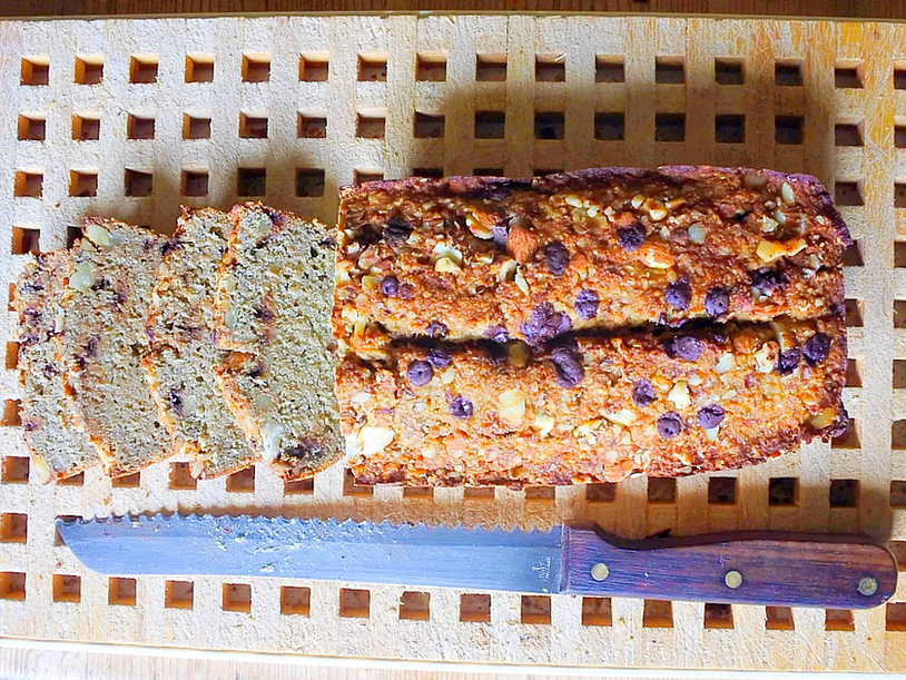Banana Bread au Chocolat {Vegan, Sans Huile, Sans Beurre}