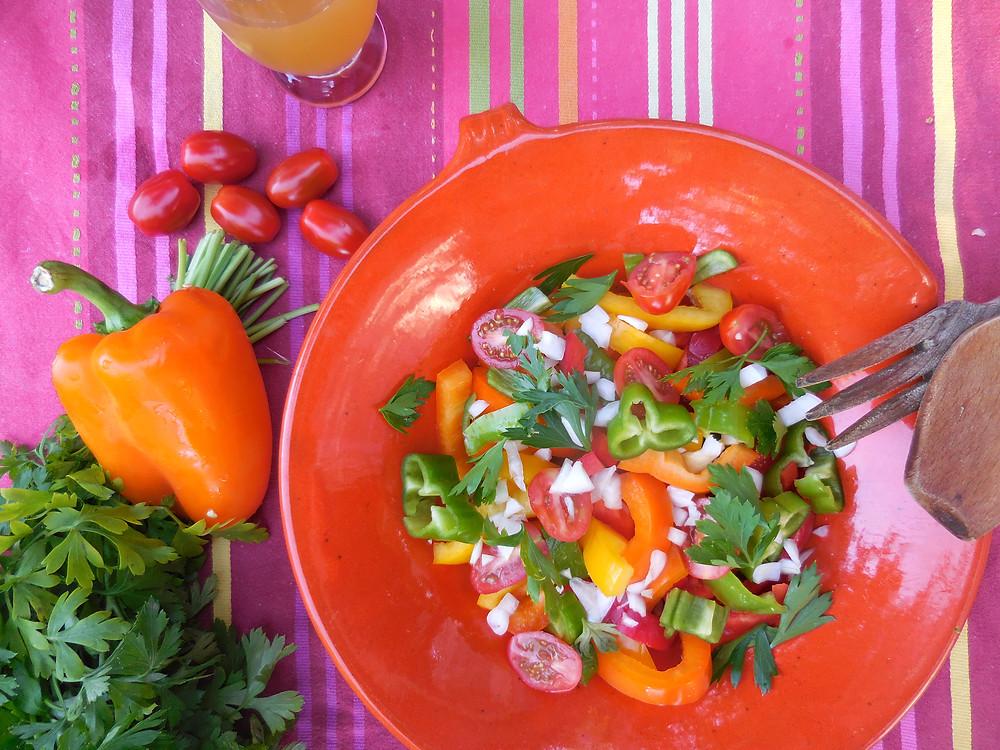 Salade de poivron