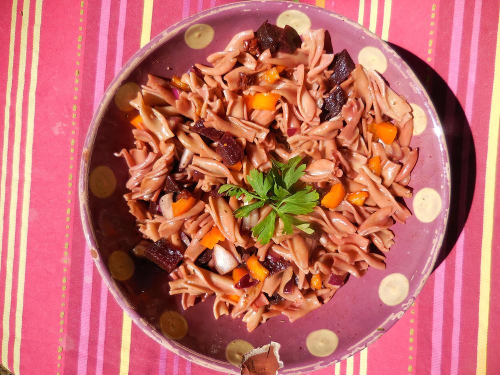 Salade de pates vegan sans gluten