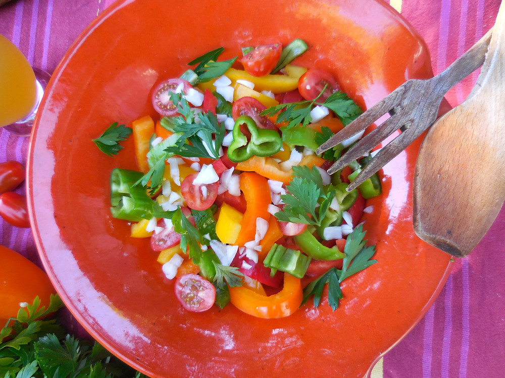 salade poivron colorée