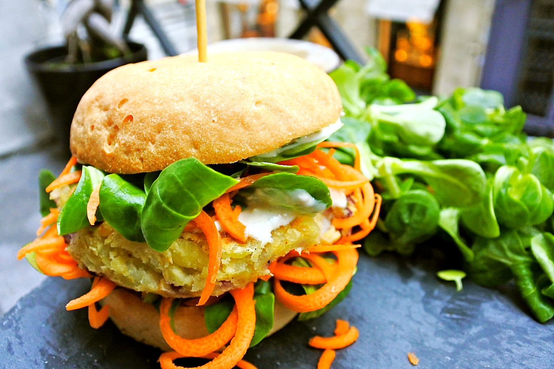 vegan potato burger