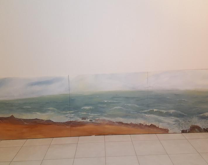 Mar, solo mar - Acrilicos, 1.10 x 3.00 m / 2017