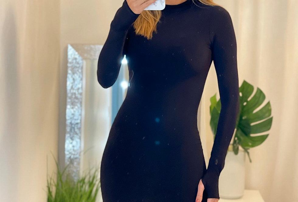 ZARINA  DRESS IN BLACK