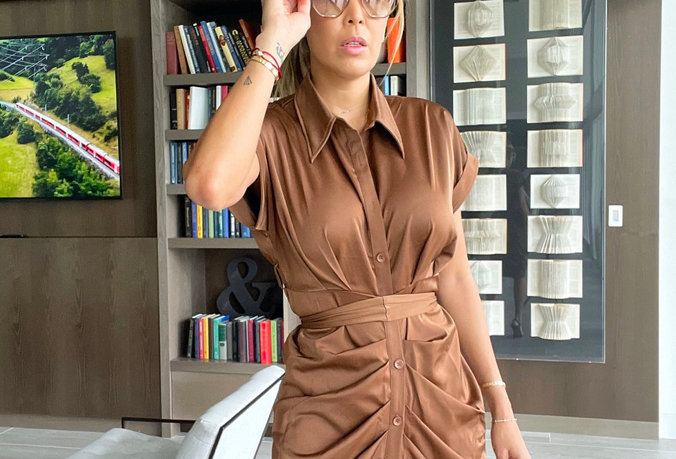 Ana in Brown dress