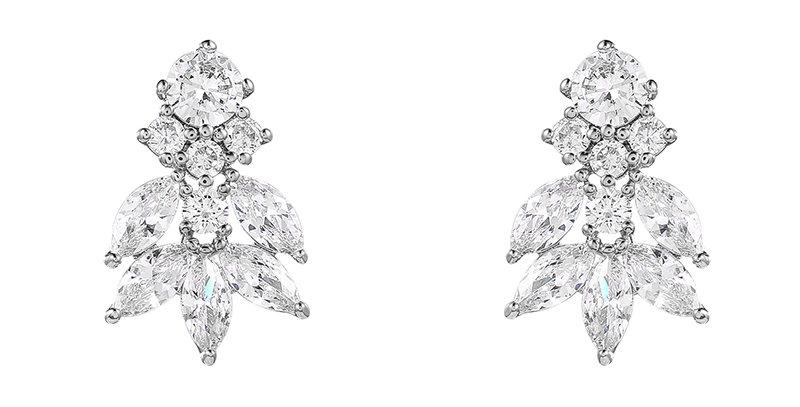 Vintage style bridal earrings