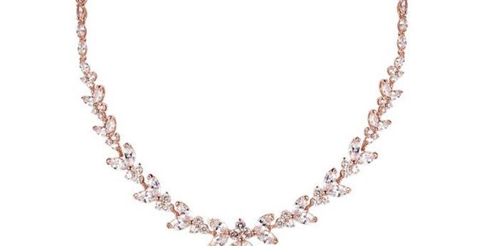 Rose gold bridal necklace