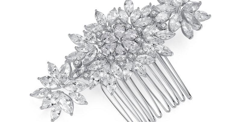 Stunning crystal bridal comb