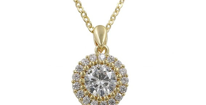 Bianca Gold Bridal Necklace