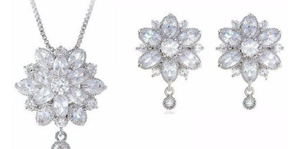 crystal bridal necklace sets