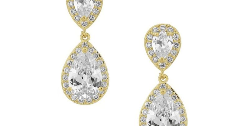 bridal earrings gold