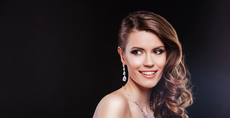bridal jewelery set earrings and necklace