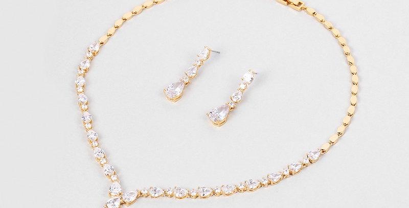 Ainsley Gold Bridal Jewellery Set