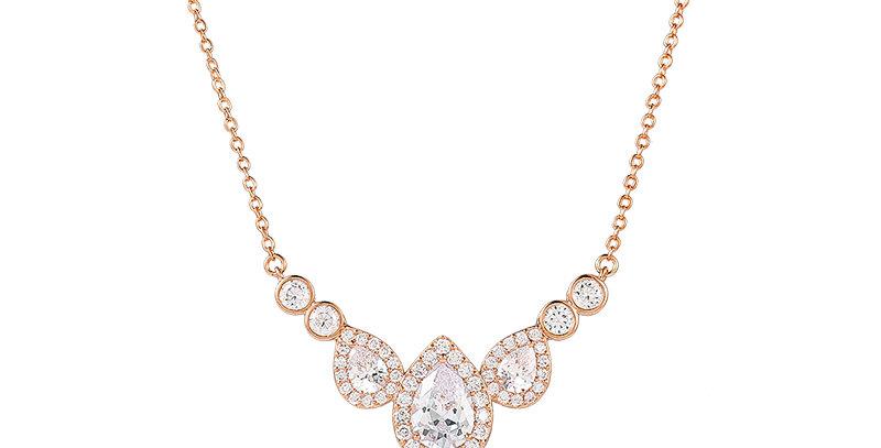 Celine Rose Gold Bridal Necklace