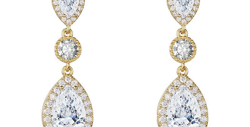 Gold wedding earrings for bride