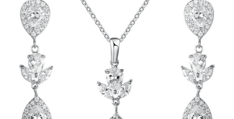 silver wedding jewellery set