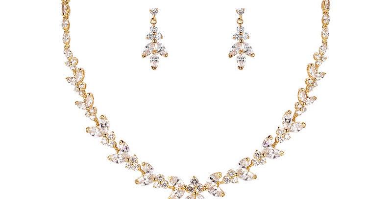bridal necklace gold set