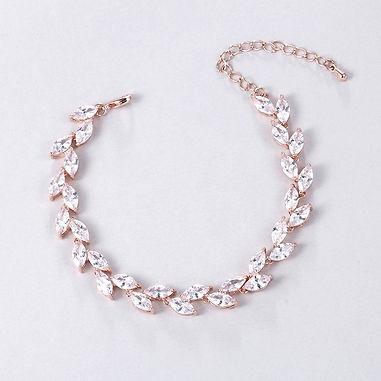 elegant rose gold bridal bracelet for wedding