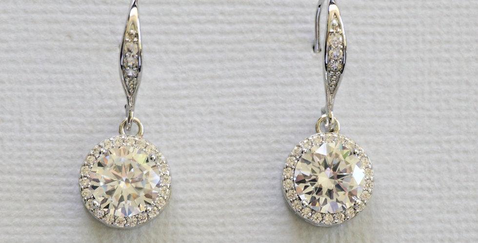 Crystal bridal drop earrings wedding