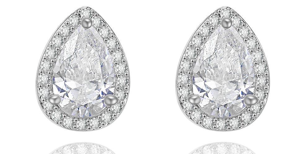 silver bridesmaid earrings