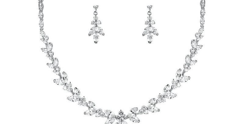 Silver statement wedding jewellery