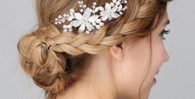Bridal side hair comb
