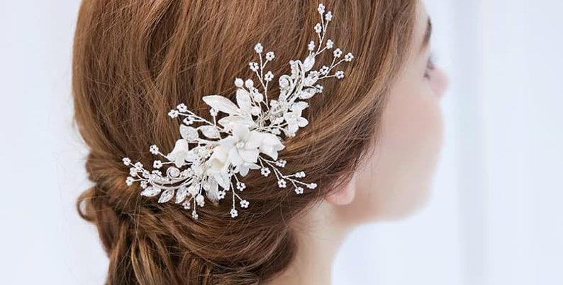 Beautiful bridal hair comb