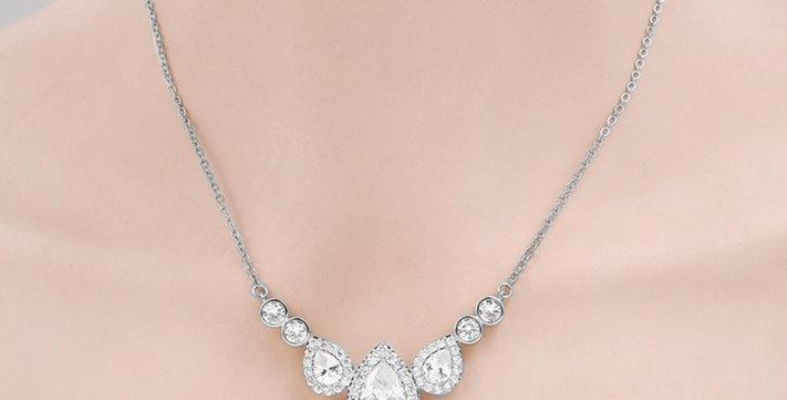 Celine Silver Bridal Necklace