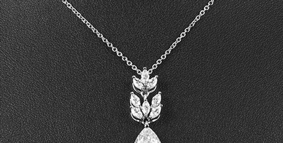 Silver wedding necklace