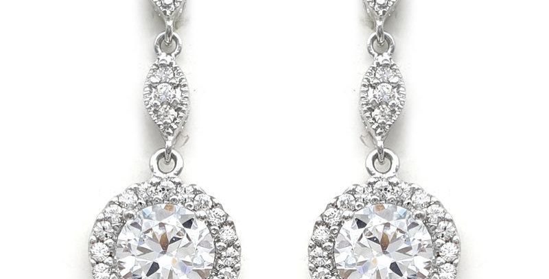 wedding earrings silver