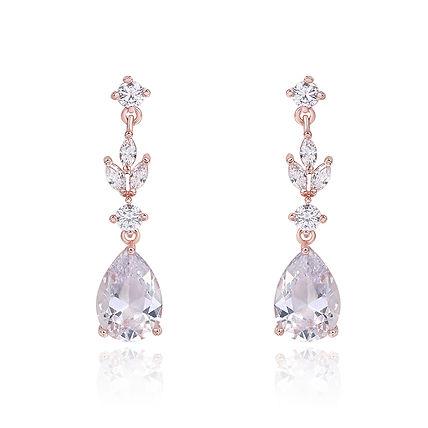 beautiful rose gold bridal earrings for weddings