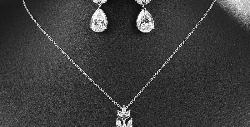 Silver bridal jewellery set