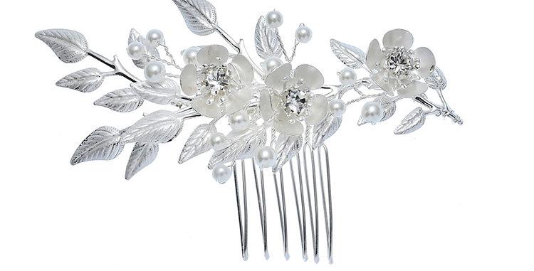 Small bridal hair comb