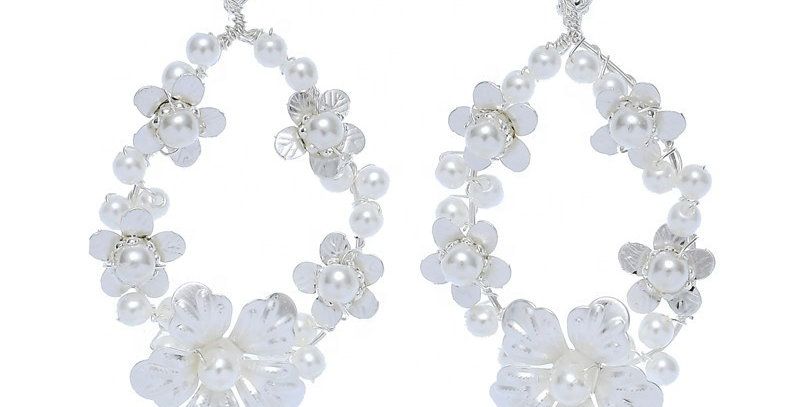 bridal statement earrings clip-on