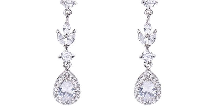 vintage drop earrings bridal