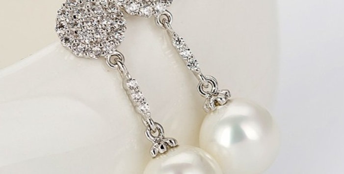 pearl drop earrings wedding