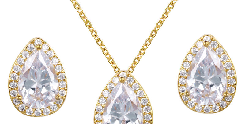 gold wedding jewelry sets for bridesmaids