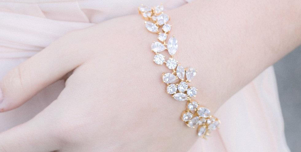Gold bridal bracelet