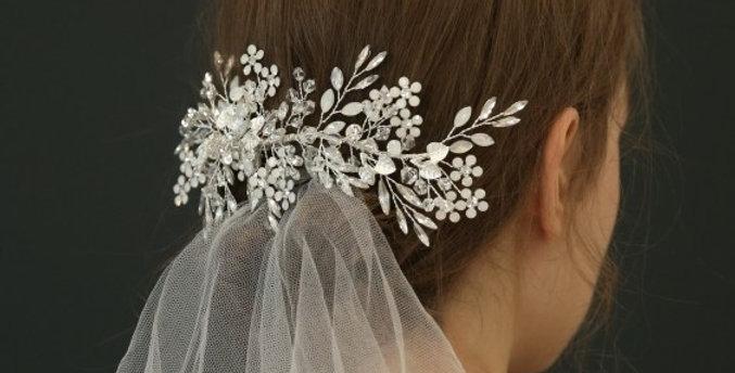 Stunning crystal headpiece with veil