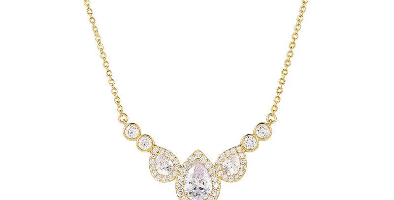 Celine Gold Bridal Necklace
