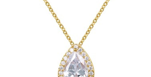 Simple gold bridal necklace