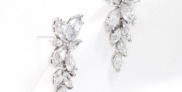 silver bridal earrings drop