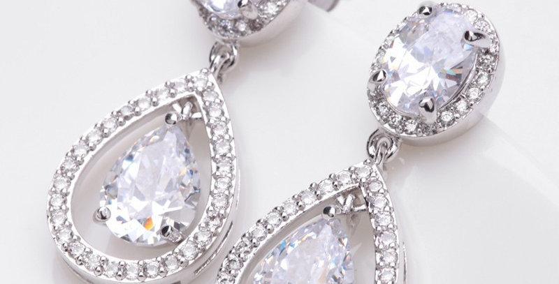 crystal drop earrings wedding