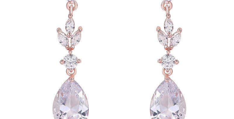 rose gold bridesmaid earrings