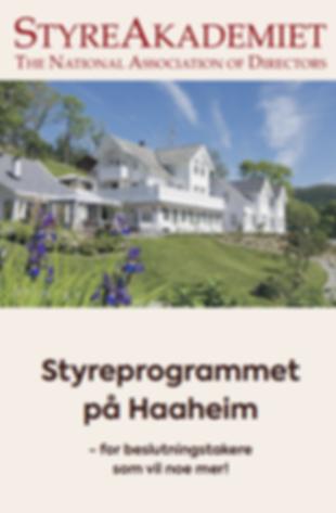 Styreprogrammet på Haaheim
